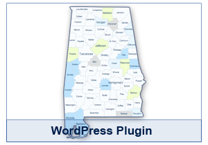 Interactive Map of Alabama - WordPress Plugin
