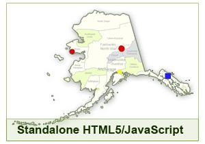 Interactive Map of Alaska - HTML5/JavaScript