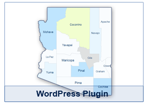 Interactive Map of Arizona - WordPress Plugin