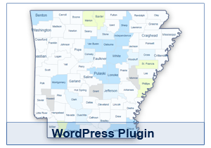 Interactive Map of Arkansas - WordPress Plugin