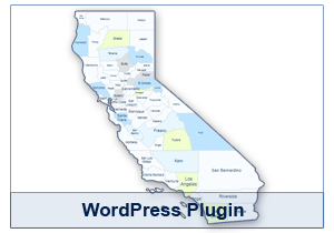 Interactive Map of California - WordPress Plugin