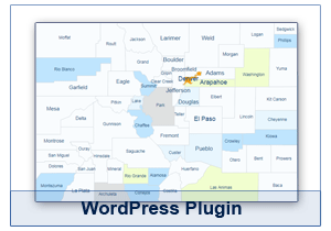 Interactive Map of Colorado - WordPress Plugin