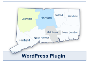 Interactive Map of Connecticut - WordPress Plugin