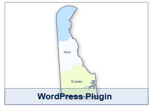 Interactive Map of Delaware - WordPress Plugin