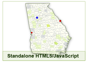 Interactive Map of Georgia - HTML5/JavaScript