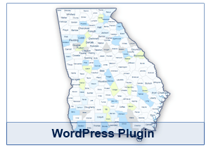 Interactive Map of Georgia - WordPress Plugin
