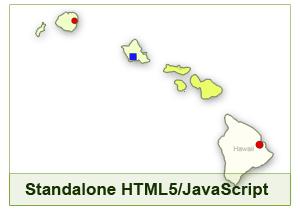 Interactive Map of Hawaii - HTML5/JavaScript