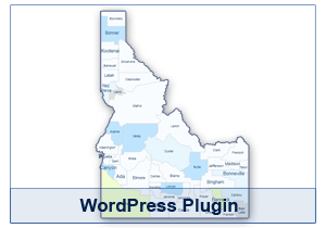 Interactive Map of Idaho - WordPress Plugin
