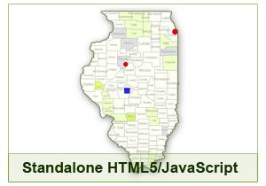 Interactive Map of Illinois - HTML5/JavaScript