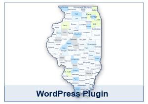 Interactive Map of Illinois - WordPress Plugin