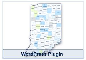 Interactive Map of Indiana - WordPress Plugin