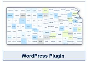 Interactive Map of Kansas - WordPress Plugin