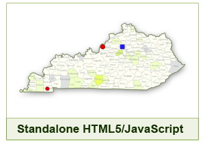 Interactive Map of Kentucky - HTML5/JavaScript