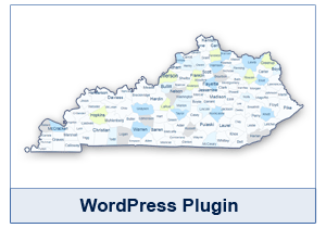 Interactive Map of Kentucky - WordPress Plugin