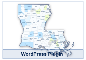 Interactive Map of Louisiana - WordPress Plugin