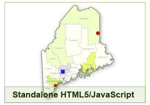 Interactive Map of Maine - HTML5/JavaScript