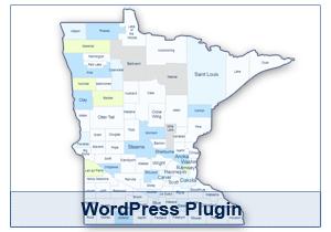 Interactive Map of Minnesota - WordPress Plugin