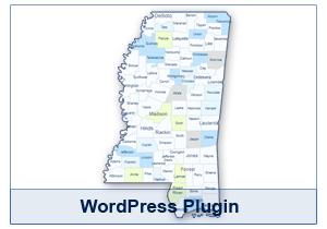 Interactive Map of Mississippi - WordPress Plugin