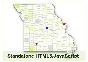 Interactive Map of Missouri - HTML5/JavaScript