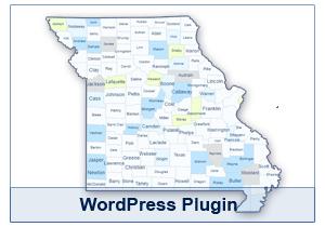 Interactive Map of Missouri - WordPress Plugin