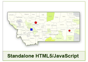 Interactive Map of Montana - HTML5/JavaScript