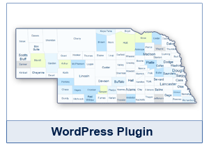 Interactive Map of Nebraska - WordPress Plugin