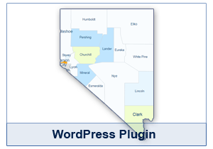 Interactive Map of Nevada - WordPress Plugin