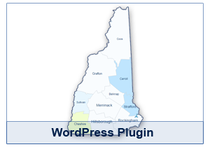 Interactive Map of New Hampshire - WordPress Plugin