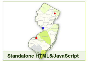 Interactive Map of New Jersey - HTML5/JavaScript