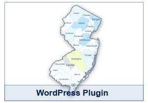 Interactive Map of New Jersey - WordPress Plugin