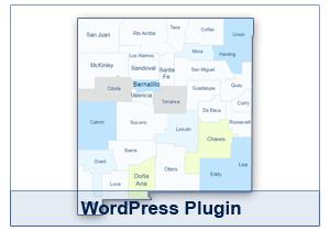 Interactive Map of New Mexico - WordPress Plugin