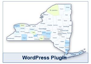 Interactive Map of New York - WordPress Plugin