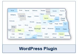 Interactive Map of North Dakota - WordPress Plugin