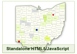 Interactive Map of Ohio - HTML5/JavaScript