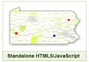 Interactive Map of Pennsylvania Download