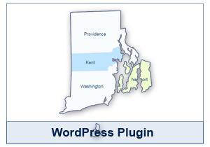 Interactive Map of Rhode Island - WordPress Plugin