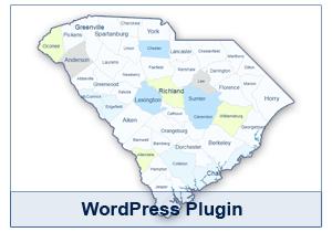 Interactive Map of South Carolina - WordPress Plugin
