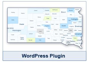 Interactive Map of South Dakota - WordPress Plugin