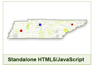 Interactive Map of Tennessee - HTML5/JavaScript
