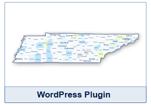Interactive Map of Tennessee - WordPress Plugin