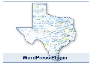 Interactive Map of Texas - WordPress Plugin
