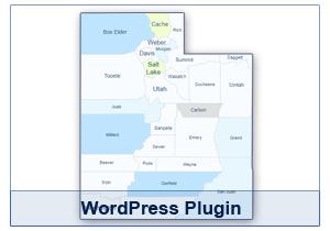 Interactive Map of Utah - WordPress Plugin