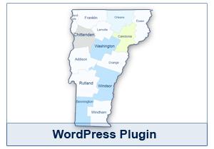 Interactive Map of Vermont - WordPress Plugin