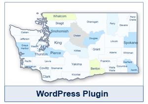 Interactive Map of Washington - WordPress Plugin