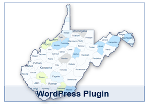 Interactive Map of West Virginia - WordPress Plugin