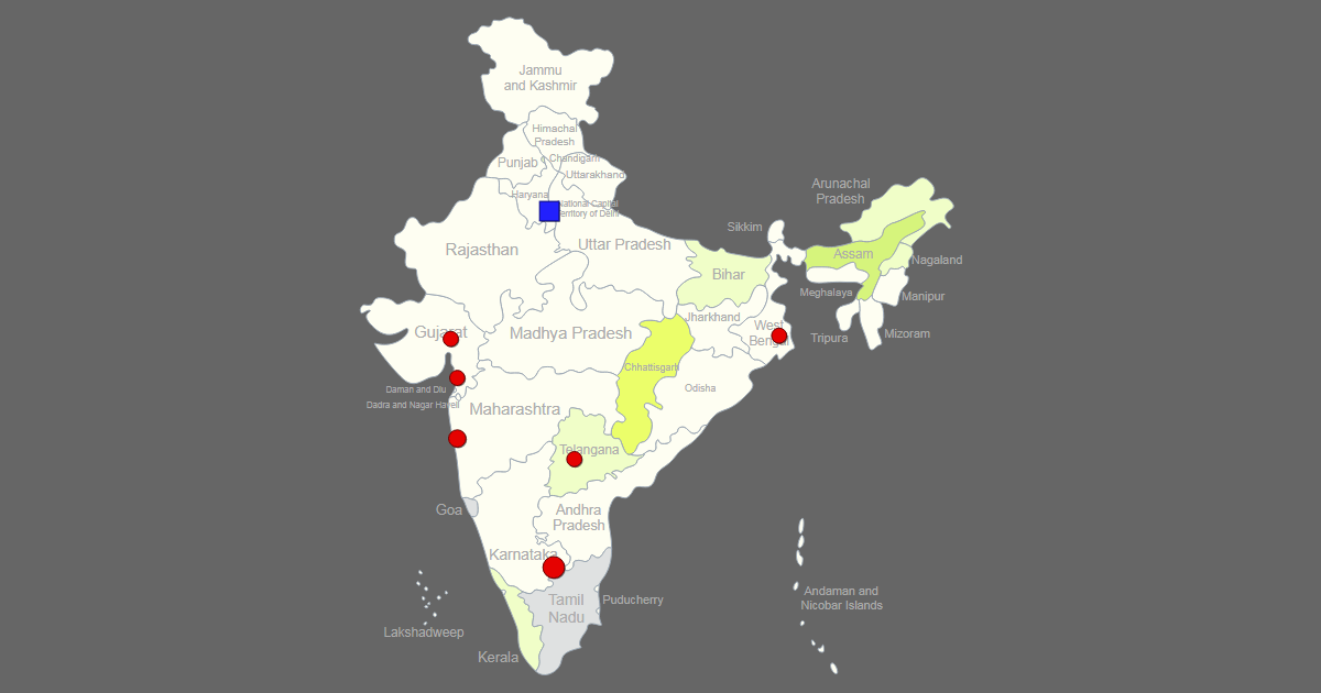 Interactive Map of India [Clickable States/Cities]
