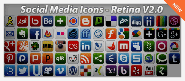 Social Media Icons Set - New
