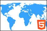 interactive html5 world map